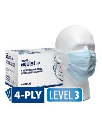 aquist HB 4-Ply Headband Style Disposable Face Masks