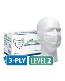 maxill Medical/Dental Earloop Procedural Masks - Blue